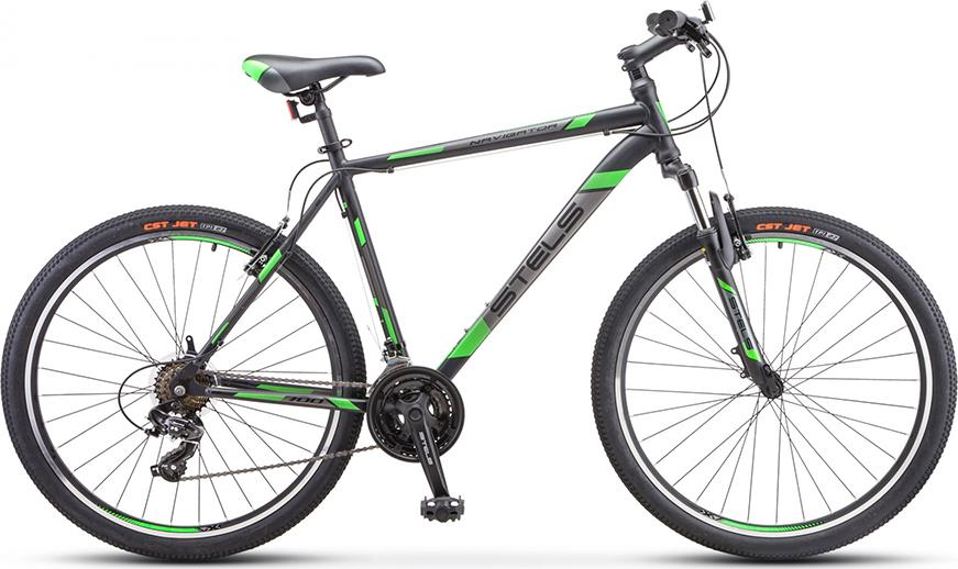 Велосипед Stels Navigator 700 V V020 Черный/зеленый 27.5 (LU093447), 21'