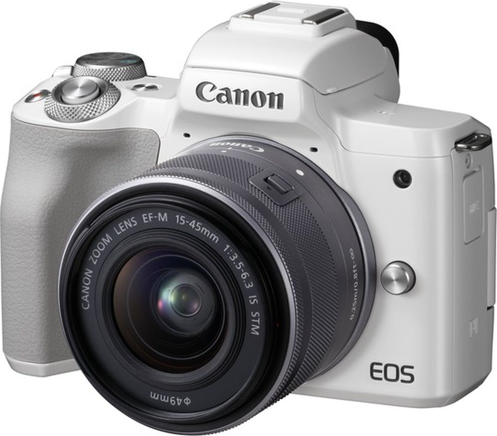 фотоаппарат canon m50 ef-m15-45 is stm white (2681c012)