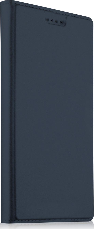 Чехол-книжка MyPads для Huawei Y5 2019/Huawei Honor 8S водоотталкивающий с мульти-подставкой на жсткой металлической основе синий