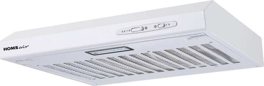 Кухонная вытяжка HOMSair HORIZONTAL 50 БЕЛЫЙ Особенности Алюминиевый фильтр находится за декоративной решеткой...