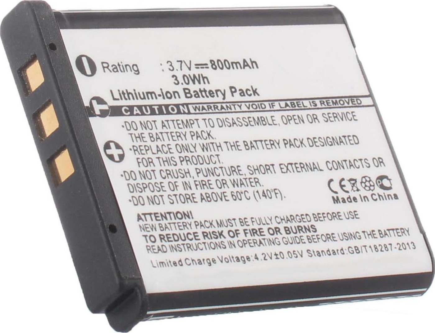 Аккумуляторная батарея iBatt iB-T2-F398 800mAh для камер FujiFilm FinePix F80EXR, FinePix F300EXR, FinePix F100fd, FinePix F70EXR, FinePix S205EXR,  для Kodak Zi8, Zx5 PlaySport, Zx3 PlaySport, EasyShare V1233, EasyShare V1253, EasyShare M1093 IS,
