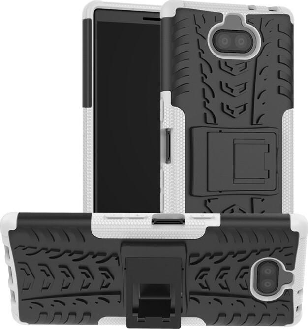 Чехол-бампер MyPads для Sony Xperia 10 Plus противоударный усиленный ударопрочный белый
