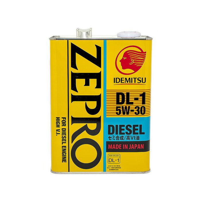 Моторное масло IDEMITSU ZEPRO DIESEL DL-1, полусинтетическое, 5W-30, 4 л 2156004