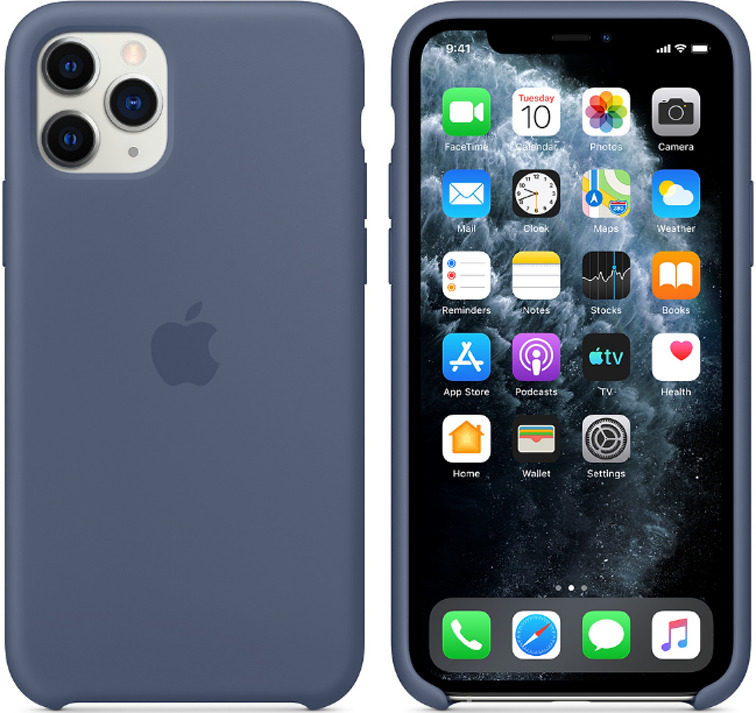 Силиконовый чехол для iPhone 11 (синий)-153489
