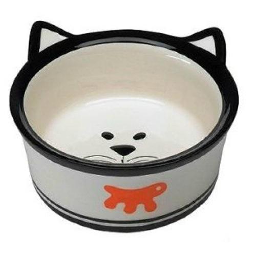 Миска для кошек Ferplast Venere Small керамическая с ушками, 0,15л ф 11,2 х h 4,2 см, 193 гр