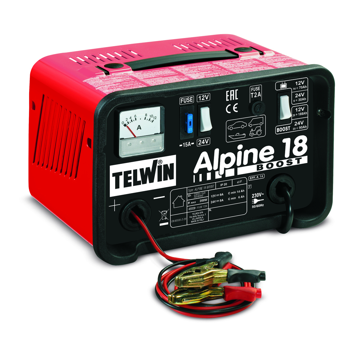 Зарядное устройство автомобильное TELWIN ALPINE 18 BOOST 12-24В