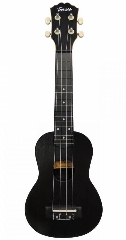 TERRIS PLUS-50 BK - укулеле сопрано, черный, пластик