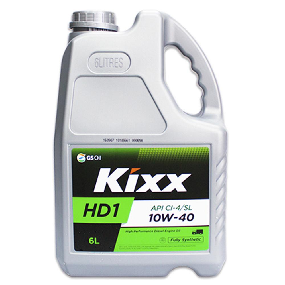 Масло моторное Kixx HD1 10w-40 API CI-4/SL, ACEA E7-08/B4/A3-07 6л.