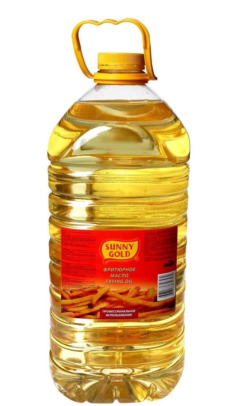 Масло подсолнечное Фритюрное рафинированное Sunny Gold 5 л