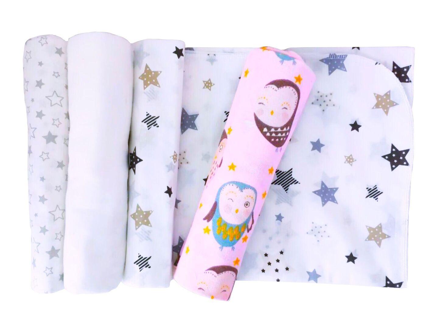 Пеленки хлопковые, Lili Dreams, Полный набор текстильных пеленок, фланель