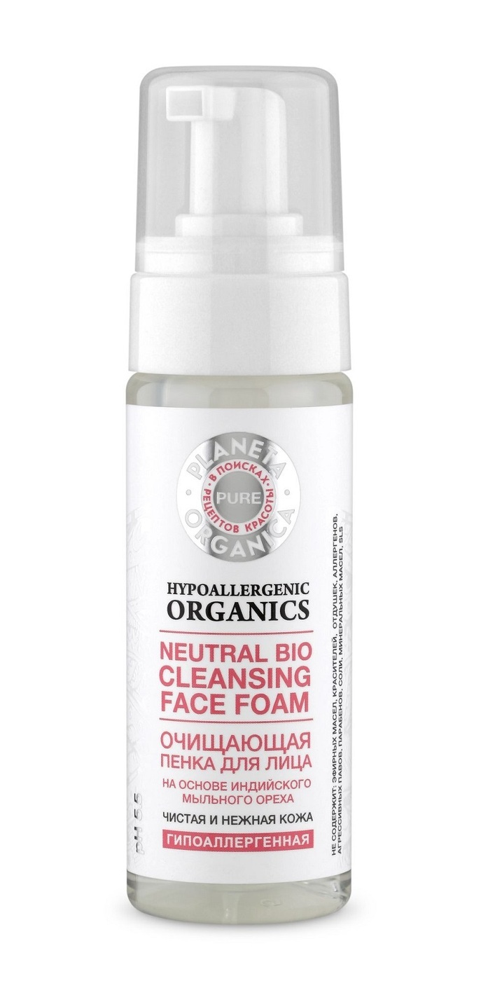 Planeta Organica Pure Очищающая пенка для лица, 150 мл