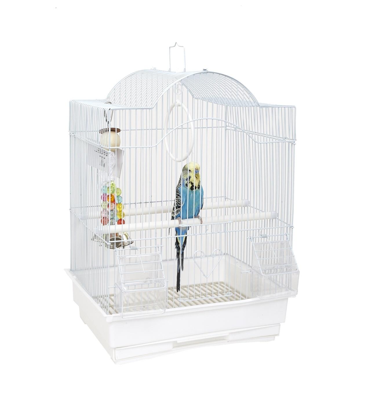 """клетка для мелких птиц sky rainforest """"panama"""", 35х28х46см, белый (великобритания)"""