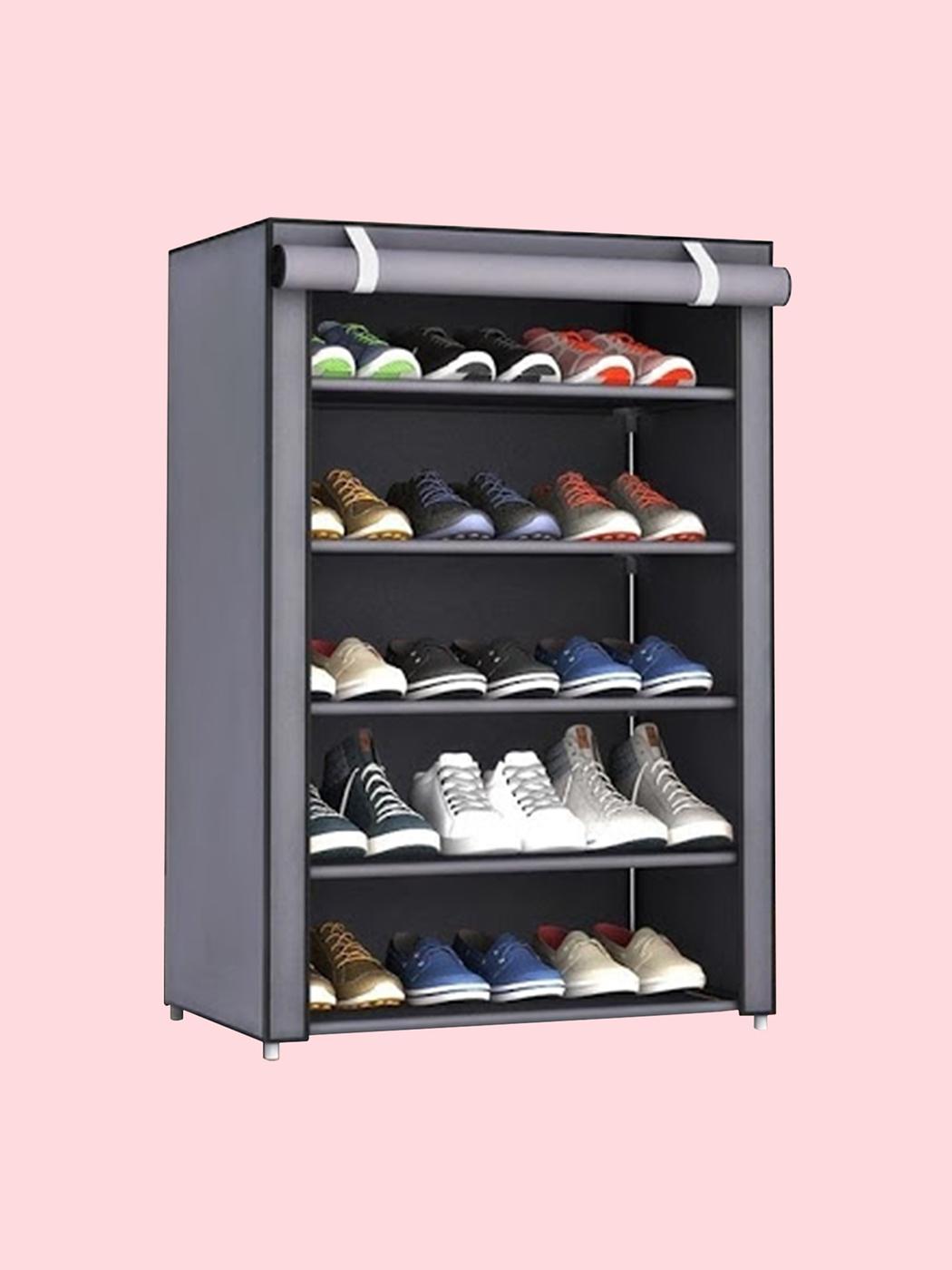 Обувница BEVELIX_02, Металл, ABS пластик, 60х30х90 см