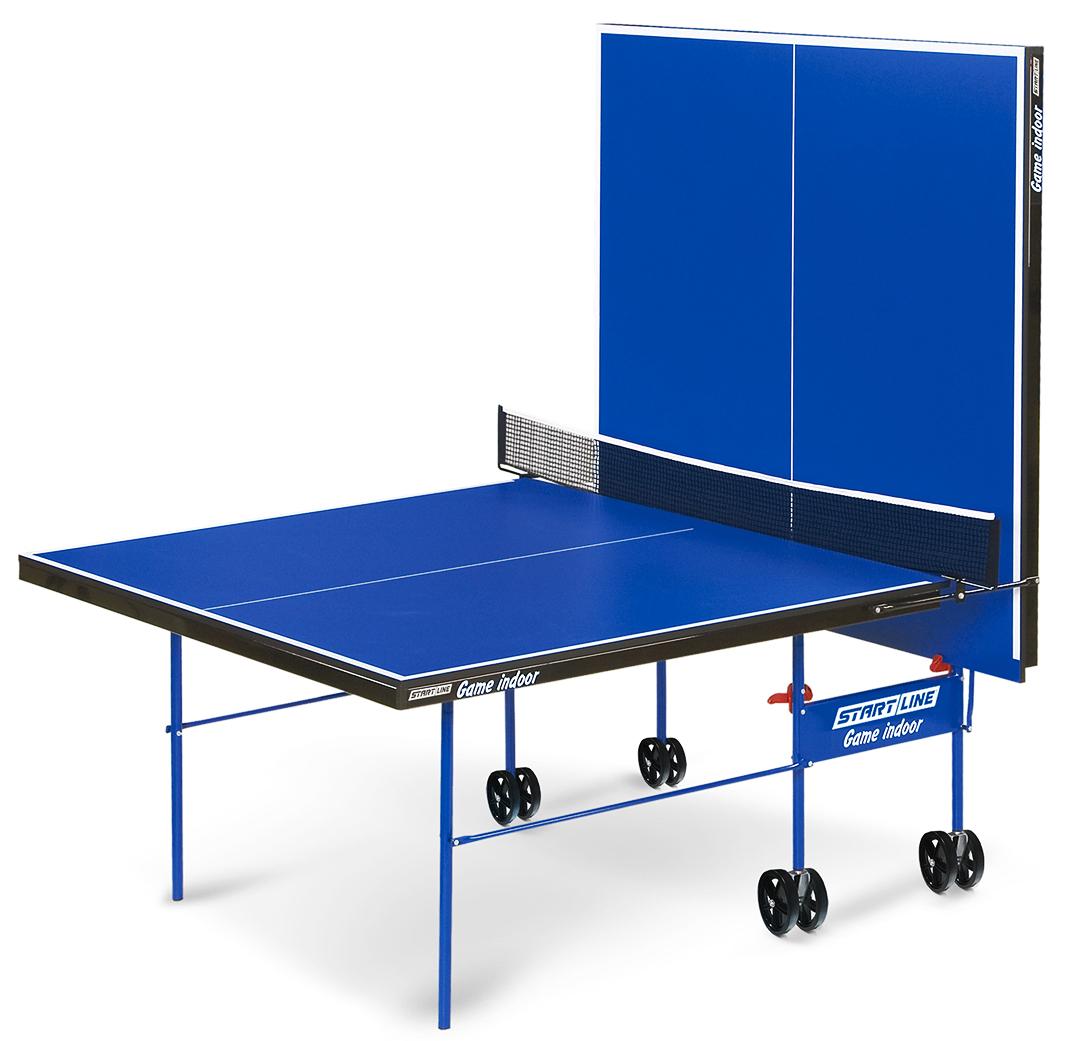 Теннисный стол Start Line Game Indoor любительский, для помещений, с встроенной сеткой