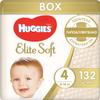 Huggies Подгузники Elite Soft 8-14 кг ( размер 4) 132 шт - изображение