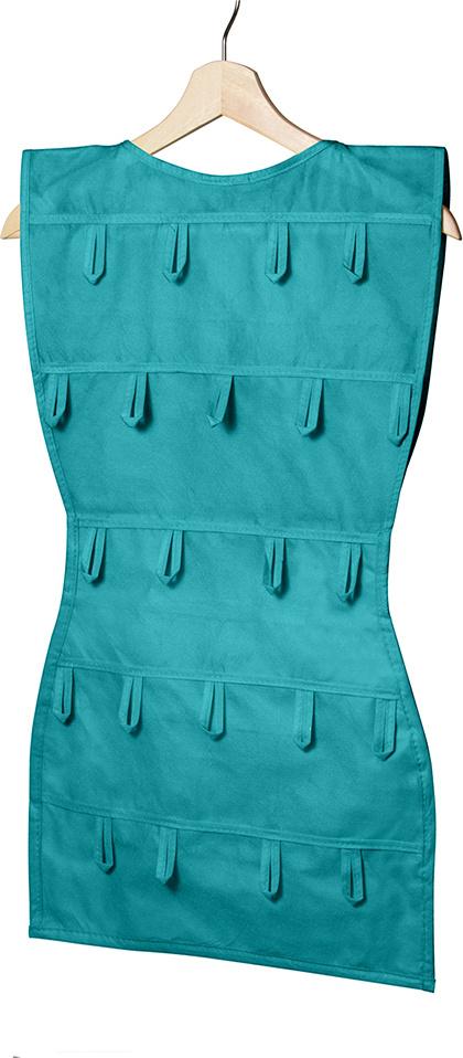 """Органайзер для аксессуаров Все на местах """"Minimalistic. Платье"""", подвесной, цвет: зеленый, 24 кармана, #1"""