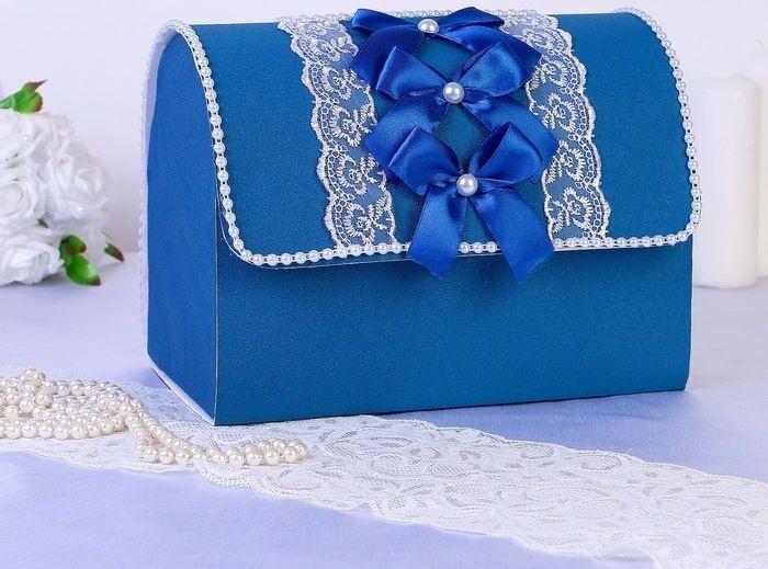 "Сундук для денег ""Аллюр"" синий разборный #1"