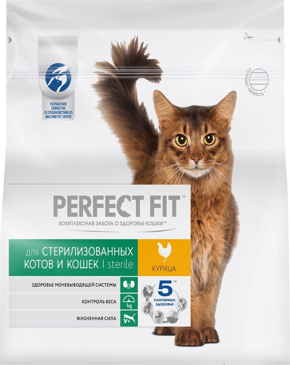 """Корм сухой """"Perfect Fit"""", для стерилизованных кошек, с курицей, 1,2 кг  #1"""