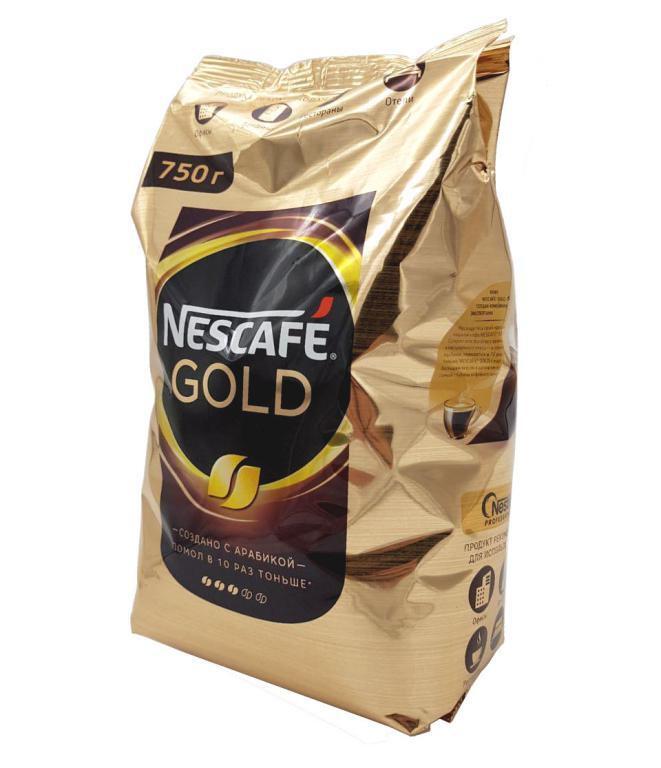 Кофе растворимый Nescafe Gold 750 гр #1