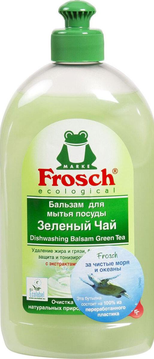 """Бальзам для мытья посуды """"Frosch"""", аромат зеленого чая, 0,5 л #1"""