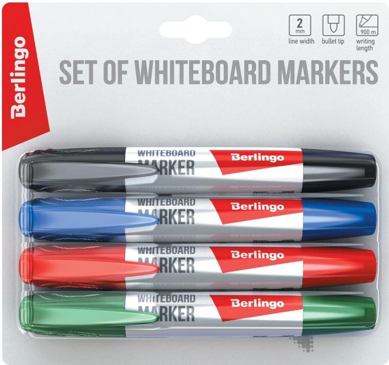 Berlingo Набор маркеров для доски 4 цвета #1