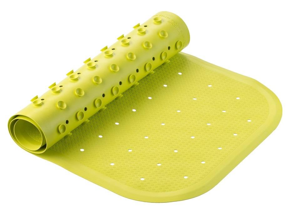 Коврик резиновый противоскользящий для ванной с отверстиями ROXY-KIDS 34,5х76 см, цвет салатовый  #1