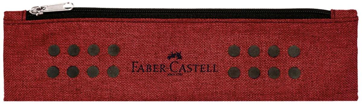 Пенал-косметичка Faber-Castell серия Grip, 1 отделение, размер 210*60, бордовый  #1