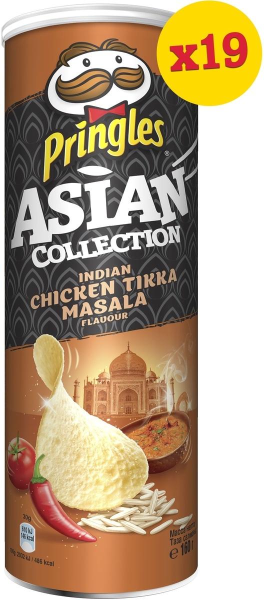 Чипсы Pringles Asian Collection, рисовые, со вкусом курицы с индийскими специями тикка масала, 19 шт #1