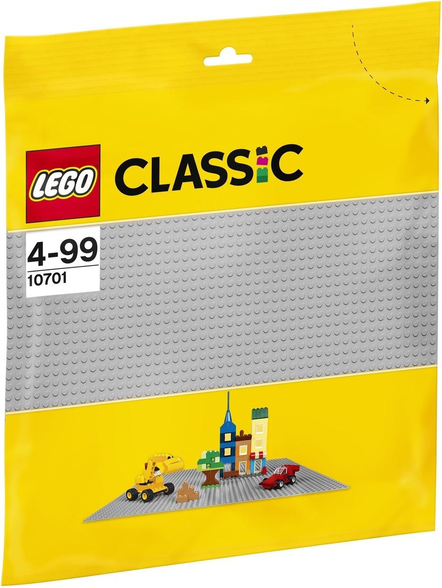 Конструктор LEGO Classic 10701 Строительная пластина серого цвета  #1