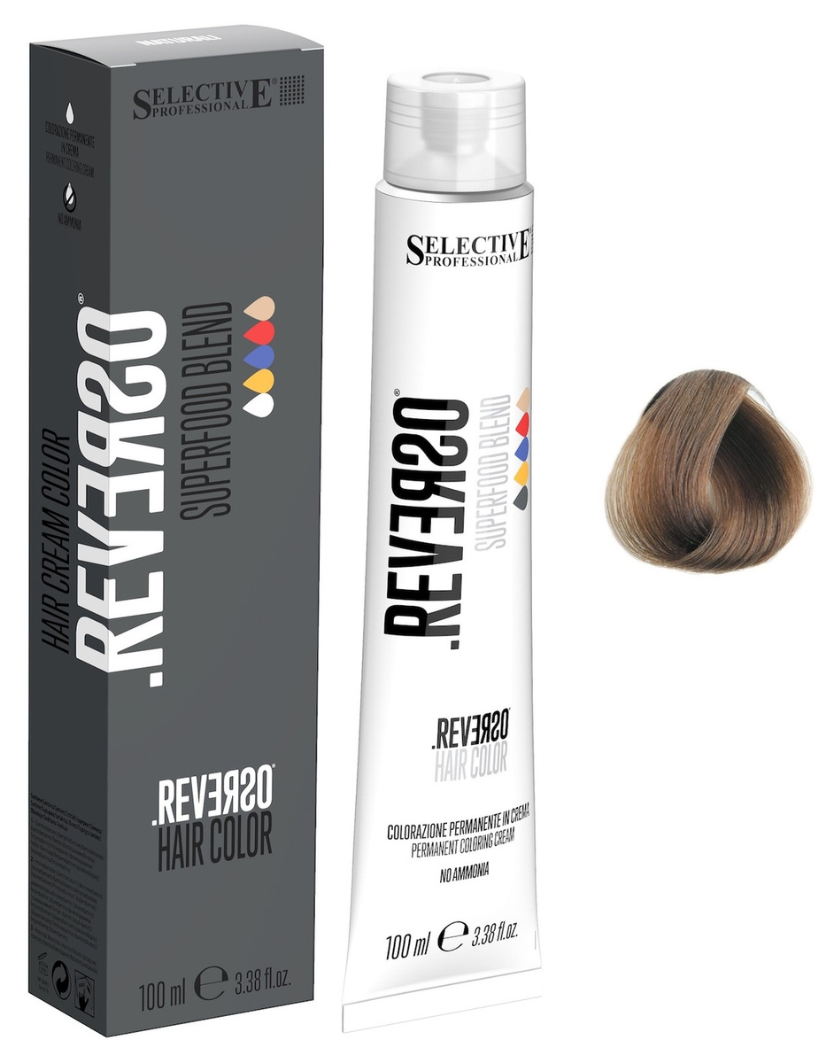 Selective Professional. Крем-краска 7.0 Блондин без аммиака обогащенная фреш-смесью SUPERFOOD, 100мл, #1