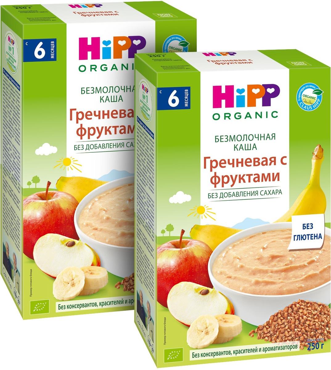 Каша для детей Hipp Гречневая, безмолочная, зерновая, с фруктами, с 4 месяцев, 250 г х 2 шт  #1