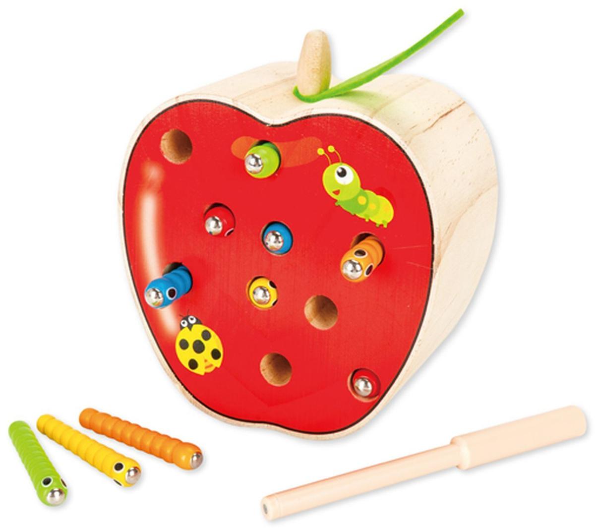 """Игровая атрибутика Mapacha Игра-рыбалка """"Поймай гусеницу"""", 10 магнитных гусениц, 76837, 14 х 7 х 15 см, #1"""