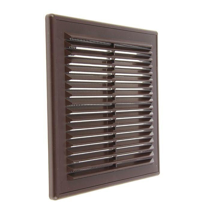 Решетка вентиляционная вытяжная 250*250с рамкой, материал АВS- пластик. Серия ВР, коричневая  #1