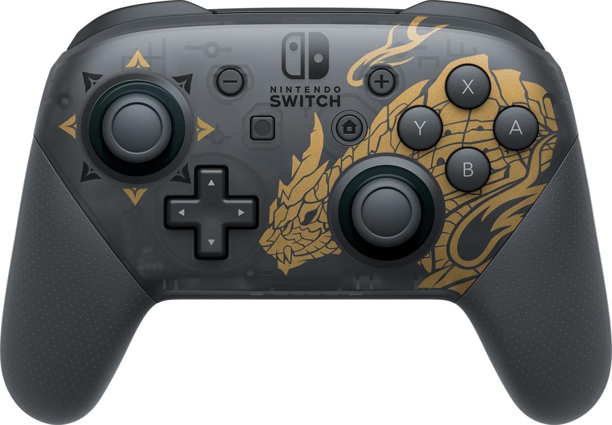 Геймпад Nintendo Switch Pro (Monster Hunter Rise), черный #1
