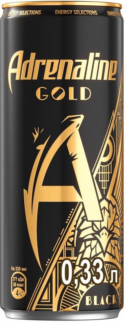 Энергетический напиток Adrenaline Gold, Черное Золото, 0.33 л #1