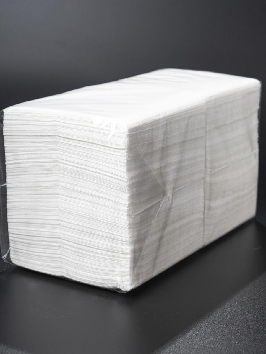 Салфетки двухслойные PAKSTAR 24х24 белые, бумажные, 250 шт, 100% целлюлоза  #1