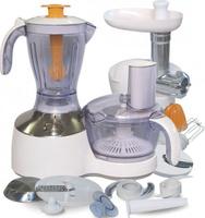 Кухонный комбайн 3 в 1 VES, 700 Вт, блендер/чоппер/мясорубка/соковыжималка, белый