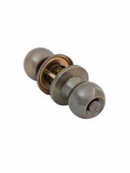 Ручка-защёлка дверная круглая A6072 BK AB (бронза, поворотник-заглушка). Лучшая цена