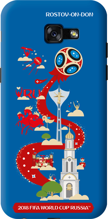 Чехол TPU для Samsung Galaxy A5(2017), FIFA Rostov-on-Don, Deppa чехол fifa 2018 rostov on don для iphone 6 6s