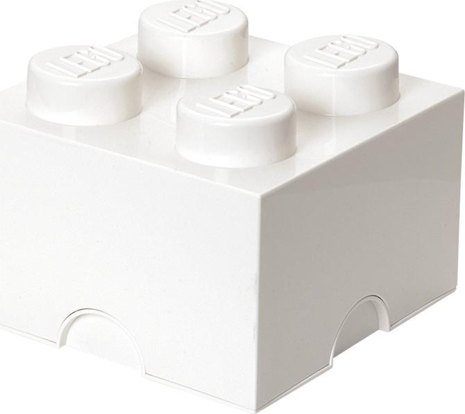 Ящик для хранения 4 LEGO белый