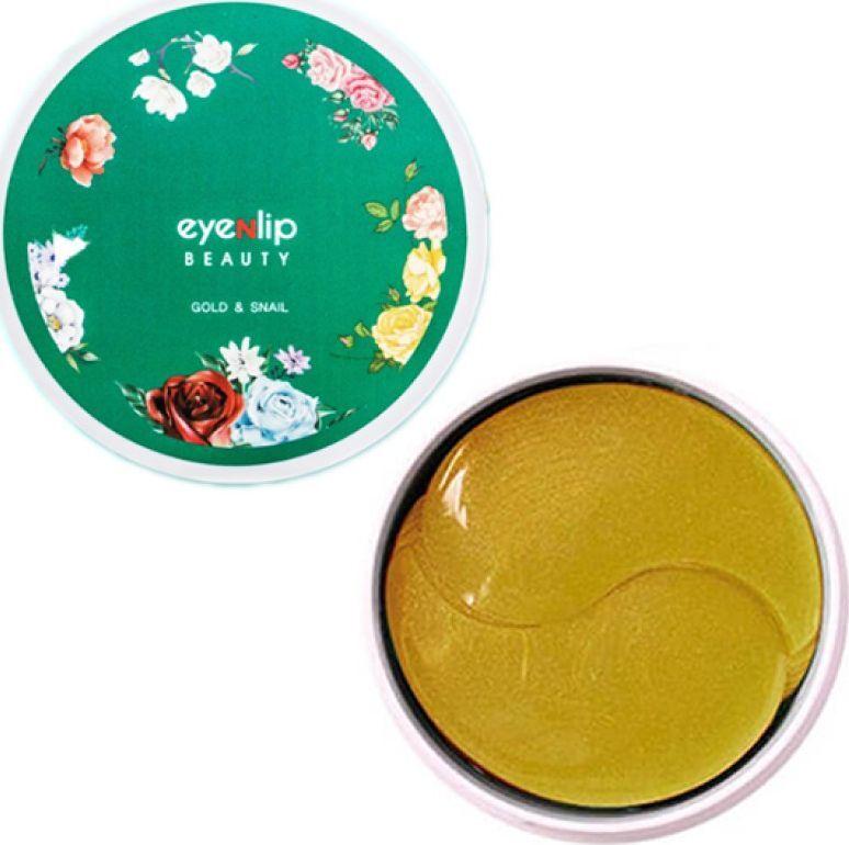 Гидрогелевые патчи для глаз с золотом и экстрактом улитки Eyenlip Gold & Snail Eye Patch, 60 шт цена