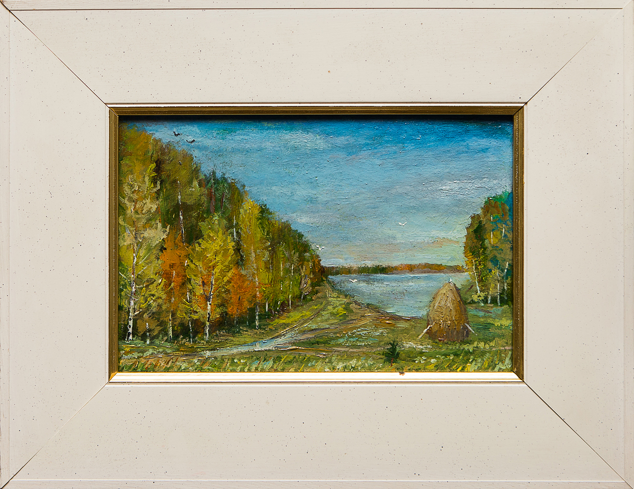 Картина маслом Возле озера Мифтахов картина маслом подсолнухи мифтахов