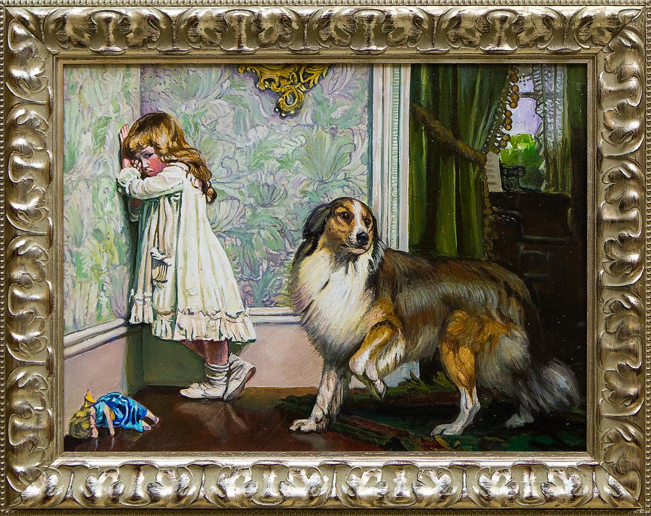 Картина маслом Обидели Воробьёв картина маслом гуляки воробьёв