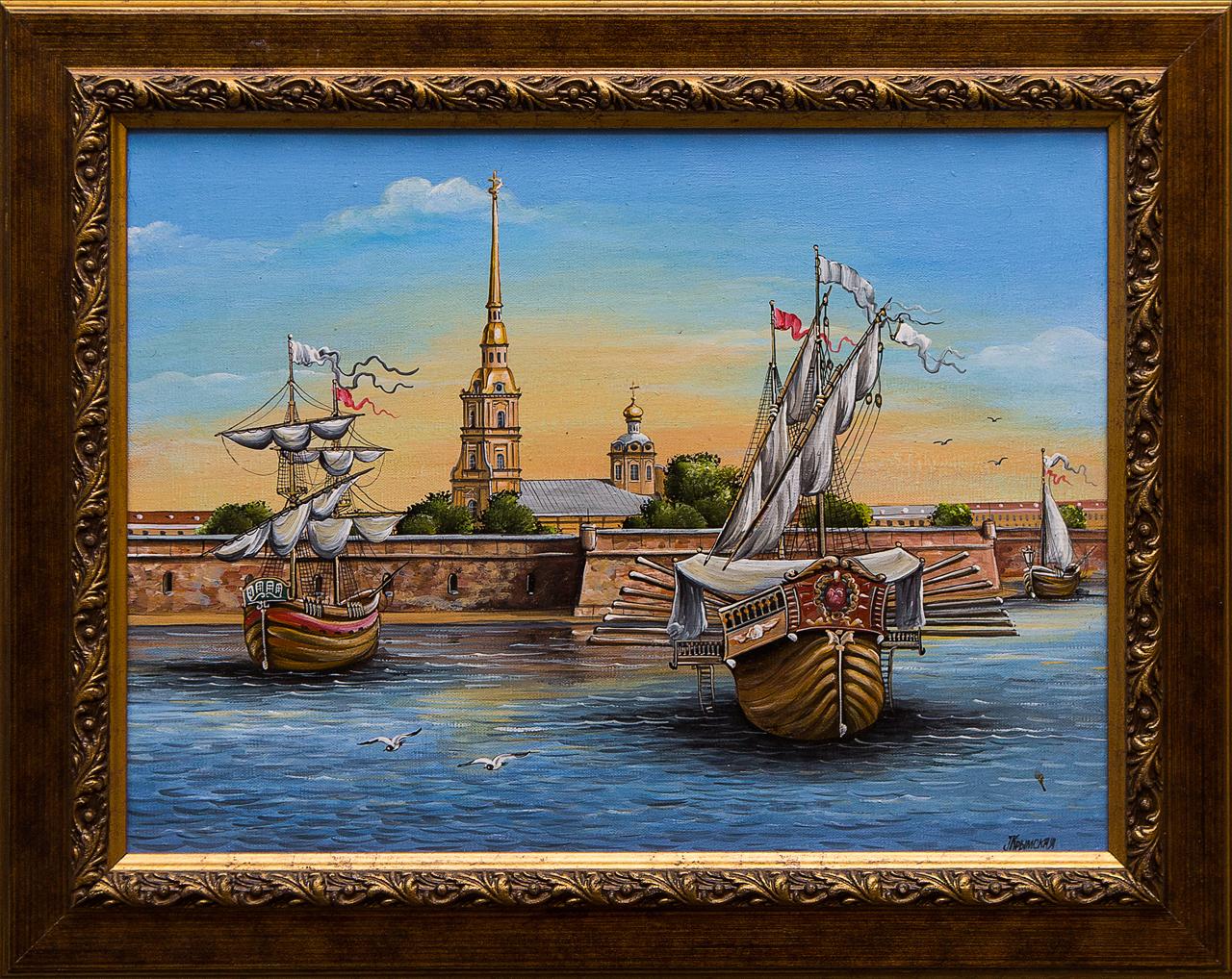 Картина маслом Санкт-Петербург Крымская картина маслом санкт петербург вид с дворцового моста ильин