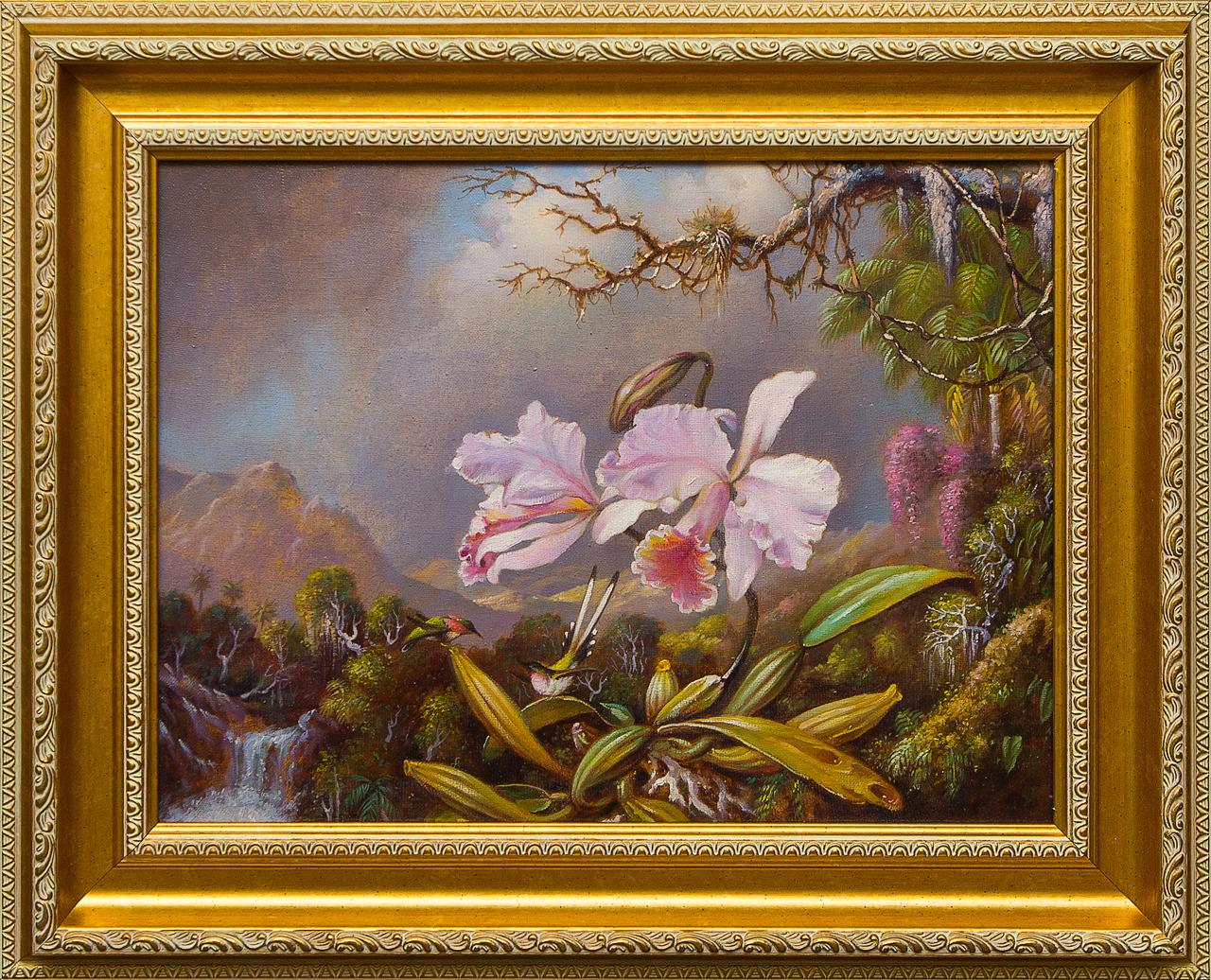 Картина маслом Две цветущие орхидеи Некрасов некрасов некрасов последние песни
