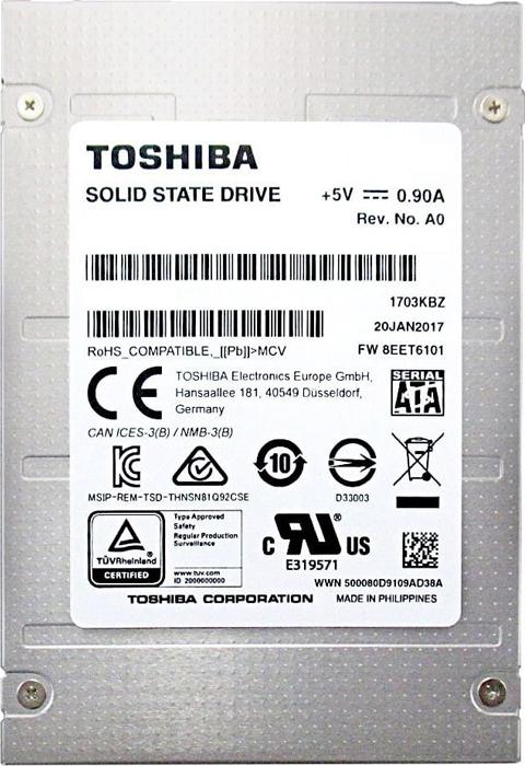 Твердотельный накопитель 960Gb SSD Toshiba, THNSN8960PCSE4PDE3 OEM
