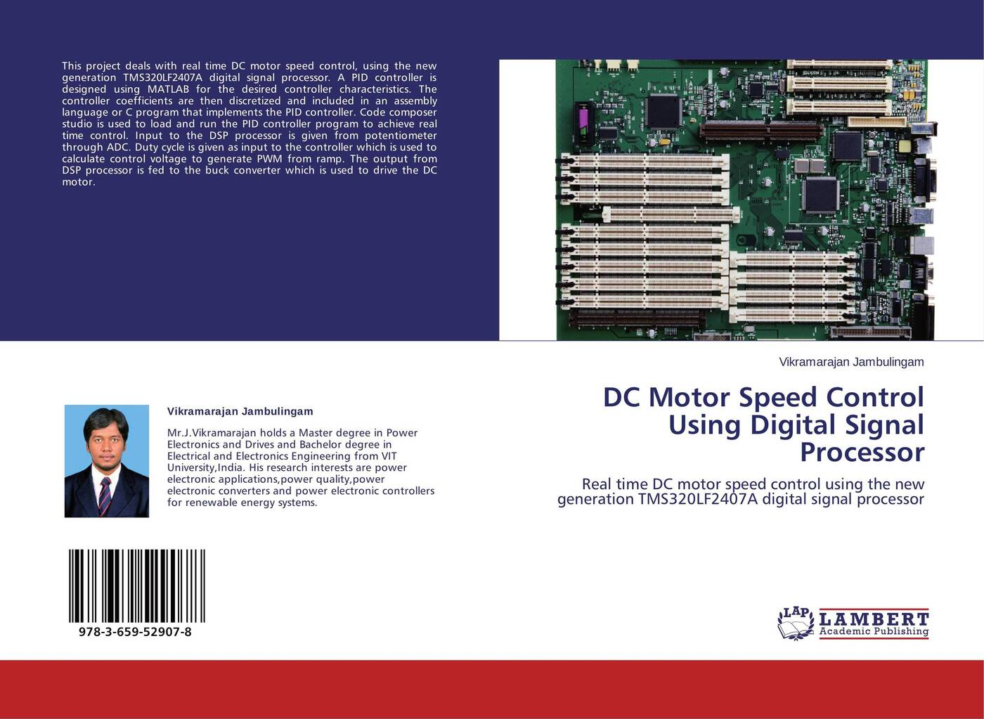 Vikramarajan Jambulingam DC Motor Speed Control Using Digital Signal Processor ac 220v input dc 180v output green i o 2 position switch motor speed controller