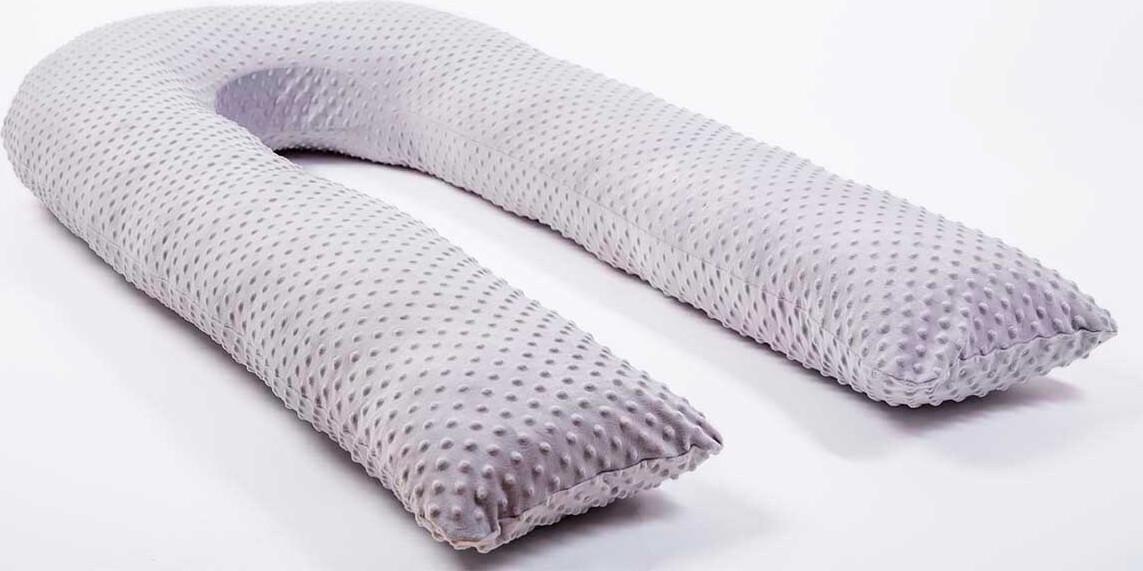 Темно-серая наволочка Minky на подушку для беременных MommyPillow U 360 см