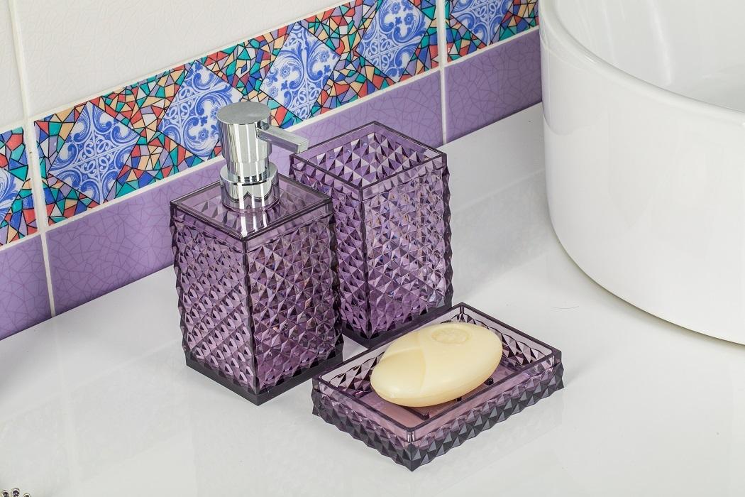 Диспенсер для мыла Swensa Rapas, цвет: фиолетовый, 250 мл дозатор насадка verseur