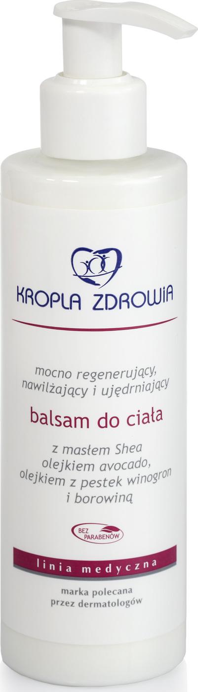 Бальзам для ухода за кожей KROPLA ZDROWIA для тела с глиной, маслом ши и маслом виноградных косточек, 200 мл